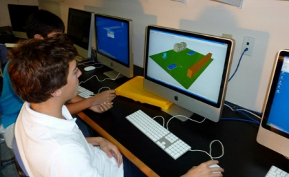 Student working on CADD project