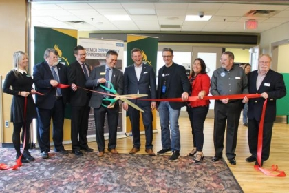 Ribbon cutting at NMU's cyber hug grand opening